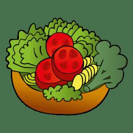 Овощной салат с сыром тофу